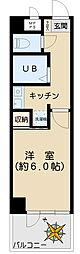 アスパ小石川 3階1Kの間取り