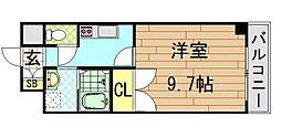 大阪府東大阪市荒本西3丁目の賃貸マンションの間取り