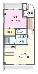 愛知県名古屋市名東区牧の原1の賃貸マンションの間取り