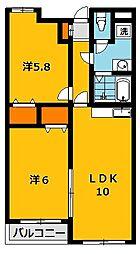 Y2ハウス[202号室]の間取り