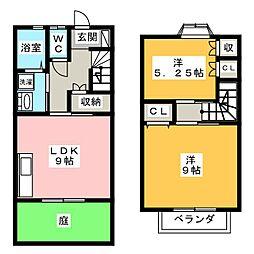 [テラスハウス] 静岡県磐田市新開 の賃貸【/】の間取り