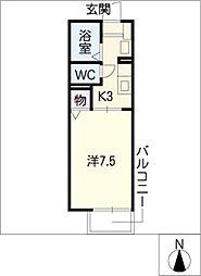 フォンティーヌWATANABE[2階]の間取り