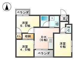 エステイタスGH7[3階]の間取り