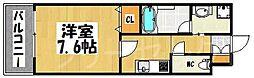 エンクレスト大博通りAPEX[7階]の間取り