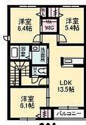 メゾンアンビシア[2階]の間取り