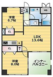 ラフルール[4階]の間取り