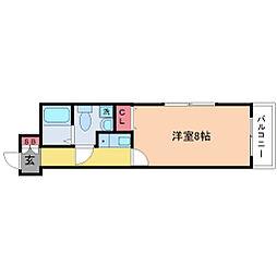第2クリスタルハイム新大阪[2階]の間取り