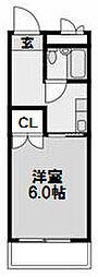 大建ハイツ第2三国マンション[513号室]の間取り