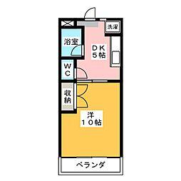 ラ・メールキャルム[2階]の間取り