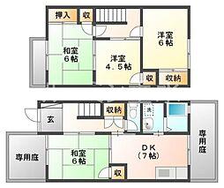 [テラスハウス] 兵庫県神戸市西区中野1丁目 の賃貸【/】の間取り