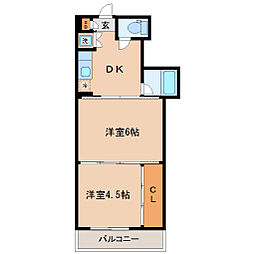 シャングリラ福沢[2階]の間取り
