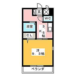 アベニュー笠寺[1階]の間取り