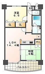 リュイール桃山台[3階]の間取り
