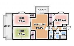 グリーンフェニックスマンション[301号室]の間取り