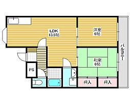 パークハイツ新金岡[2階]の間取り