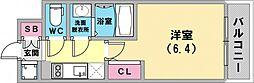 エスリード神戸兵庫駅マリーナスクエア 11階1Kの間取り