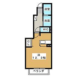 ポラリスI、II[1階]の間取り