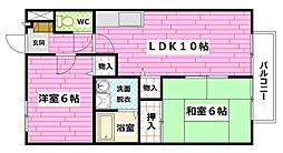 広島県広島市安佐南区緑井1丁目の賃貸アパートの間取り