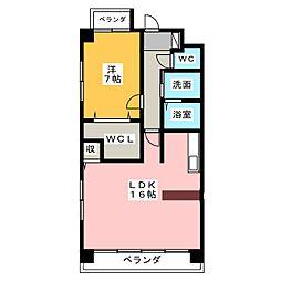 フラワーコート本町[3階]の間取り