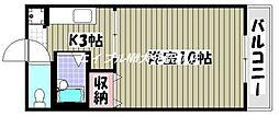 岡山県岡山市南区下中野丁目なしの賃貸マンションの間取り
