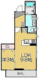 プティ サリチェ[3階]の間取り