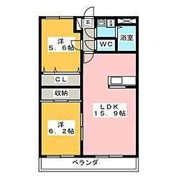 コンフォート鴻之台[2階]の間取り