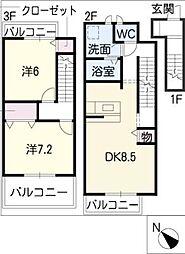 ドリーム21 A棟[3階]の間取り