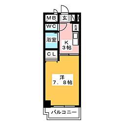 びい6植田[7階]の間取り