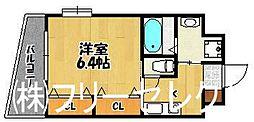 福岡県福岡市博多区石城町の賃貸マンションの間取り