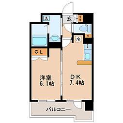 レジディア仙台原ノ町[12階]の間取り
