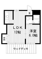パルスコートII[1階]の間取り