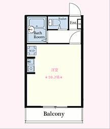 神奈川県横浜市南区真金町1丁目の賃貸アパートの間取り