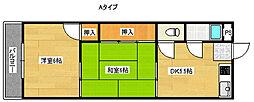 クライスビルIV[4階]の間取り