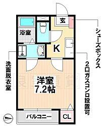 愛知県名古屋市瑞穂区荒崎町の賃貸アパートの間取り