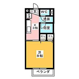 Surplus One幡山[2階]の間取り