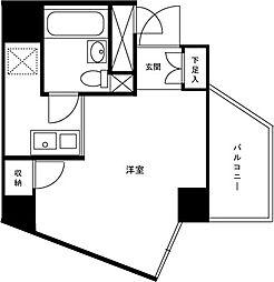 プレール新宿余丁町[204号室]の間取り