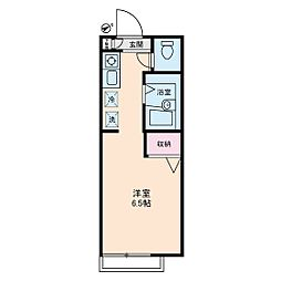 ディアス高野台[2階]の間取り