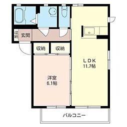 サンモール C[1階]の間取り