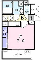 COCORO[3階]の間取り