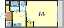 大阪府東大阪市永和1丁目の賃貸マンションの間取り