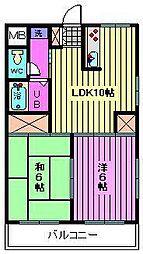 第7岡昭マンション[1階]の間取り