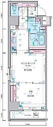 JR総武線 浅草橋駅 徒歩5分の賃貸マンション 11階1LDKの間取り