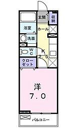 ベルメゾン法花[2階]の間取り