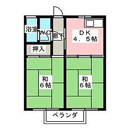 岩田荘[2階]の間取り