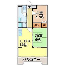 ロイヤルオークII[1階]の間取り