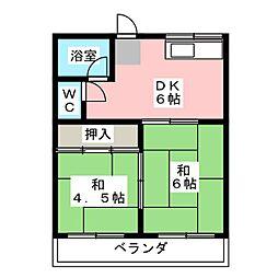 コーポ大平 C[2階]の間取り