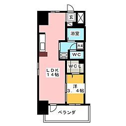 丸東レジデンス大須[8階]の間取り