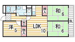 ハピネス48[306号室]の間取り