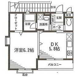 エーデルハイム矢作B棟[2階]の間取り