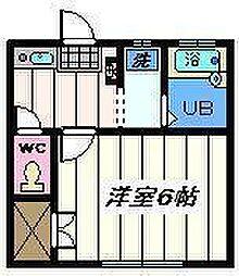 東京都葛飾区西水元3丁目の賃貸アパートの間取り